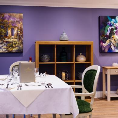 Trinity Manor Care Home dining room