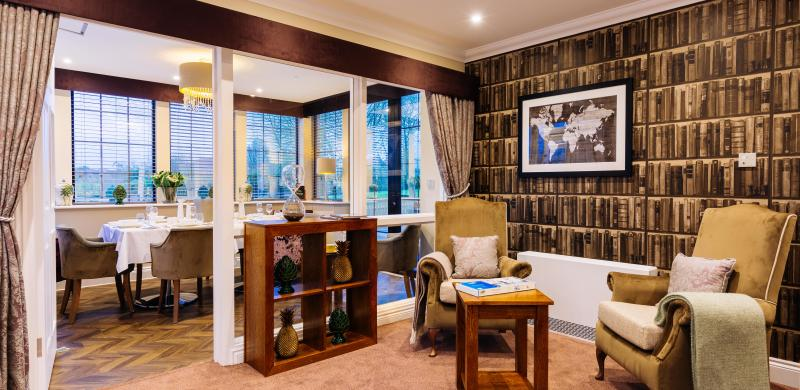 Trinity Manor Care Home lounge and private dining room