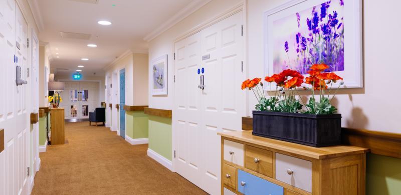 Trinity Manor Care Home Memory Lane corridor