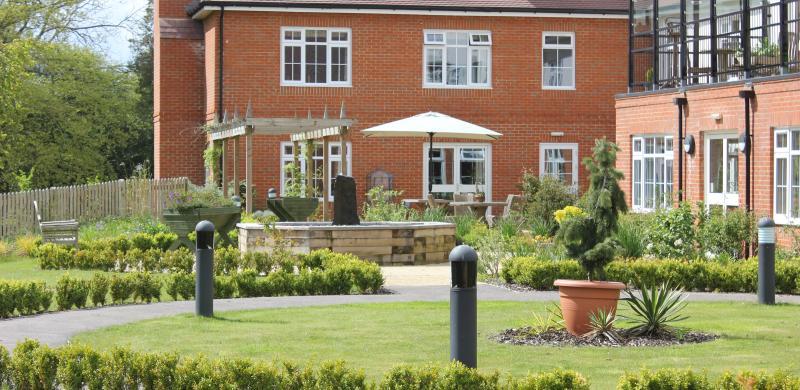 View of the garden behind Wadhurst Manor