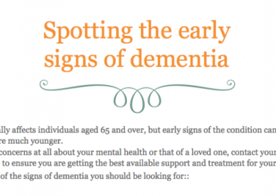 Spotting the early signs of dementia