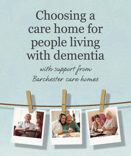 Choosing a dementia care home