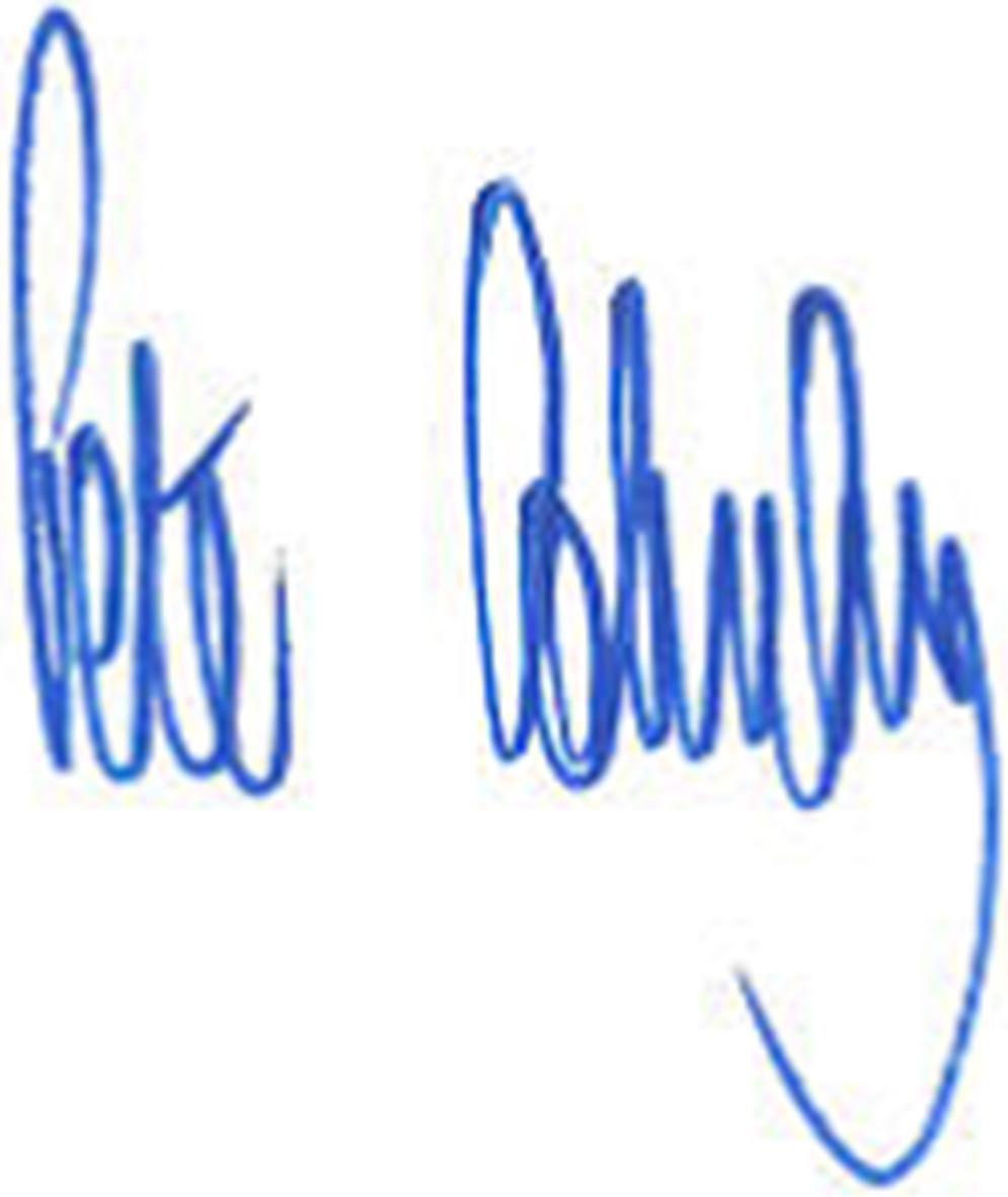 皮特·皮特·米勒的签名